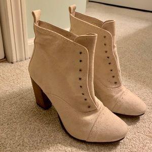 Vintage AllSaints canvas heeled boot